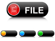 File buttons. Isolated on white Stock Photography