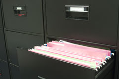 File cabinet. With a drawer opened Stock Images