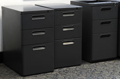 File cabinet. A row of file cabinets in an office Royalty Free Stock Image