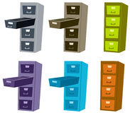File cabinet. Illustration of colorful file cabinet Royalty Free Stock Photos