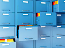 File cabinet. Fine 3d image of file cabinet folder Royalty Free Stock Images