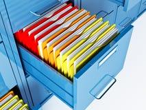 File cabinet. Fine 3d image of file cabinet folder Stock Photos