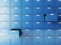 File cabinet. Fine 3d image of file cabinet folder Stock Images