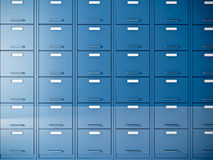 File cabinet. Fine 3d image of blue file cabinet Royalty Free Stock Photography