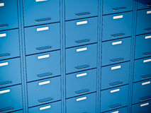 File cabinet. Fine 3d image of blue file cabinet Stock Photography