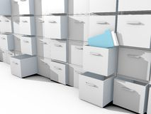 File Cabinet. 3d on white floor Stock Photography