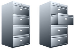 Steel file cabinet Royalty Free Stock Image