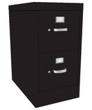 File Cabinet. Storage cabinet office files with two drawers. Vector illustration Stock Photography
