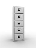 File Cabinet. 3d illustration of a file cabinet. A clipping path is included for easy editing Stock Photo