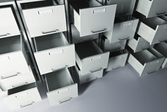 File cabinet 3d. Office business background Stock Image