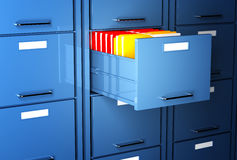 File cabinet 3d. And colorful folder office image Royalty Free Stock Photo