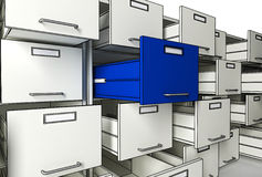 File cabinet 3d. Fine 3d image of metal file cabinet 3d Royalty Free Stock Image