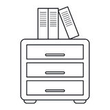 File cabinet archive workplace outline. Vector illustration eps 10 Royalty Free Stock Photography
