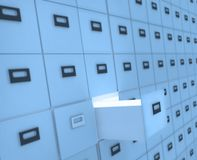 File cabinet. Big File cabinet with documents Stock Photo