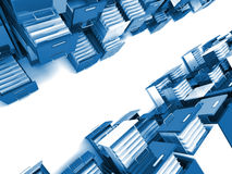 File cabinet. 3d image of colorful file cabinet Stock Photo