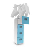 File cabinet. And documents with paper Stock Photo