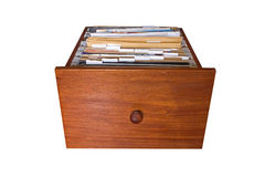 File cabinet drawer Stock Photo