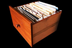File cabinet drawer Royalty Free Stock Photography