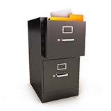 File Cabinet with files. On a white background Stock Images