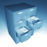 File cabinet and folder. File and folder cabinet 3d business illustration Stock Photography