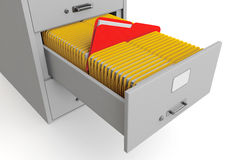 File cabinet with folders Stock Images