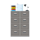 File cabinet icon. Files cabinet icon over white background. colorful design. vector illustration Stock Image
