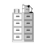File cabinet icon. Files cabinet icon over white background. vector illustration Royalty Free Stock Photos