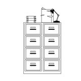 File cabinet icon. Files cabinet icon over white background. vector illustration Royalty Free Stock Images