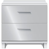 File Cabinet. Office furniture. Document storage with two drawers. Vector illustration Royalty Free Stock Photos