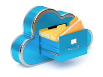 File cabinet. Very high resolution rendering of a cloud shaped file cabinet Stock Photography