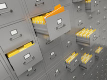 File cabinet. Very high resolution rendering of a large file cabinet Royalty Free Stock Photos