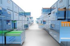 File cabinet on white background Stock Photo