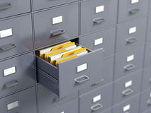 File cabinets. Archive concept - 3d render Stock Images