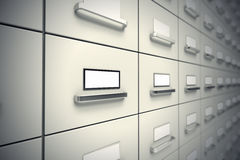 File cabinets. Royalty Free Stock Photography