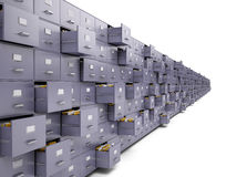 File cabinets. On white background Stock Images