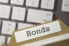 File Card Bonds. 3D. Stock Photography