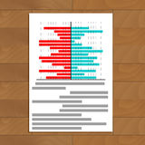 File with chart on table Royalty Free Stock Image