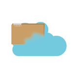 File and cloud computing design. File and cloud computing icon. Storage technology and virtual theme. Isolated design. Vector illustration Royalty Free Stock Images