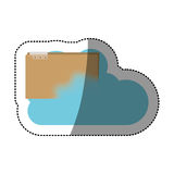 File and cloud computing design. File and cloud computing icon. Storage technology and virtual theme. Isolated design. Vector illustration Stock Photos