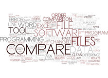 File Compare Tools To Servive Text Background  Word Cloud Concept Royalty Free Stock Photos