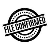 File Confirmed rubber stamp Royalty Free Stock Image