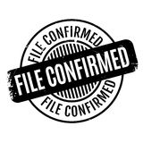 File Confirmed rubber stamp Stock Photo