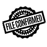 File Confirmed rubber stamp Stock Photos