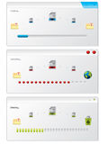 File copy progress indicator windows. File copy progress indicators windows Royalty Free Stock Photos