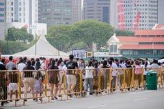 File d'attente chez le Padang Singapour Images stock