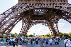 File d'attente d'Eiffel Photo libre de droits