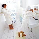 File d'attente de salle de bains Photographie stock libre de droits