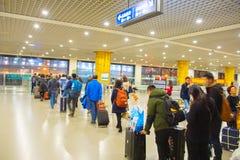 File d'attente pour le train de Changhaï Maglev Photo stock