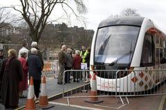 File d'attente pour le tramway Photographie stock libre de droits