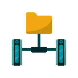 file and data base design. File icon. Data base center and web hosting theme.  design. Vector illustration Royalty Free Stock Photos
